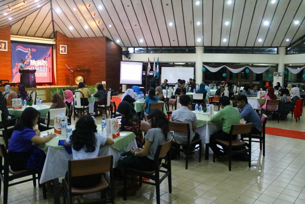 Gala dinner sebagai pembukaan Musyawarah Nasional VII ILMAGI Jumat (24/04) di Auditorium GMSK IPB Foto oleh Ichwanul A M