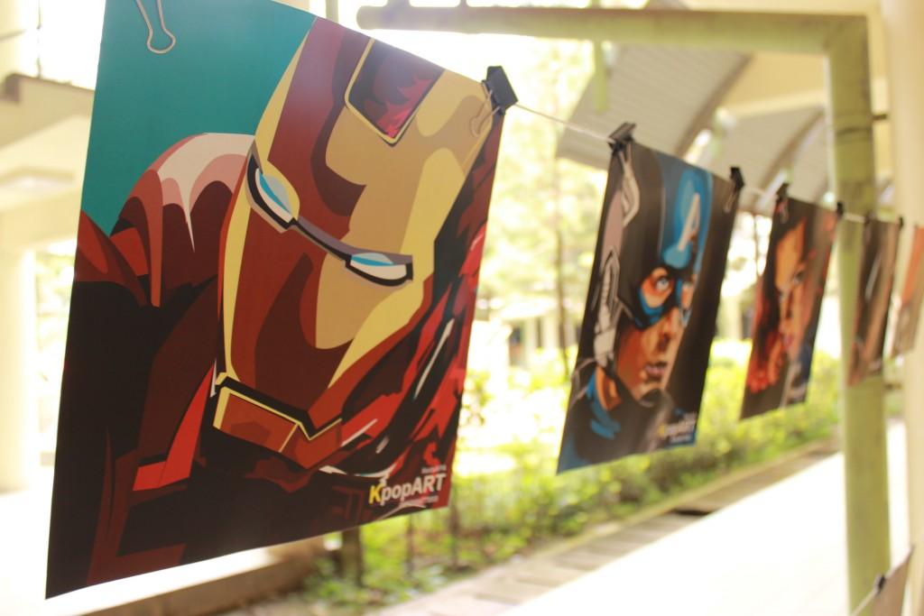 Karya hasil seni mahasiswa ARL yang di pamerkan