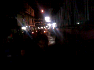Takbir Keliling melewati jalan raya Babakan Tengah