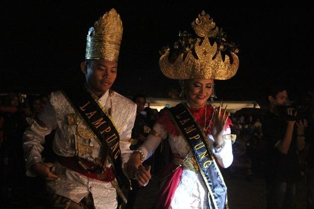 Putra-putri Lampung menjadi putra-putri omda terbaik kedua pada Gebyar Nusantara 2015