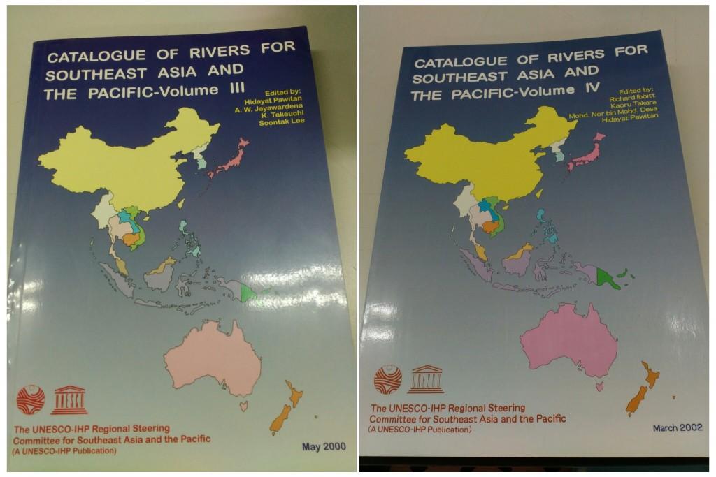 Catalog of Rivers edisi III dan IV yang diterbitkan oleh UNESCO