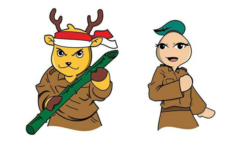 Arda(kanan) dan Arya(kiri), dua karakter maskot MPKMB-IPB angkatan 53.