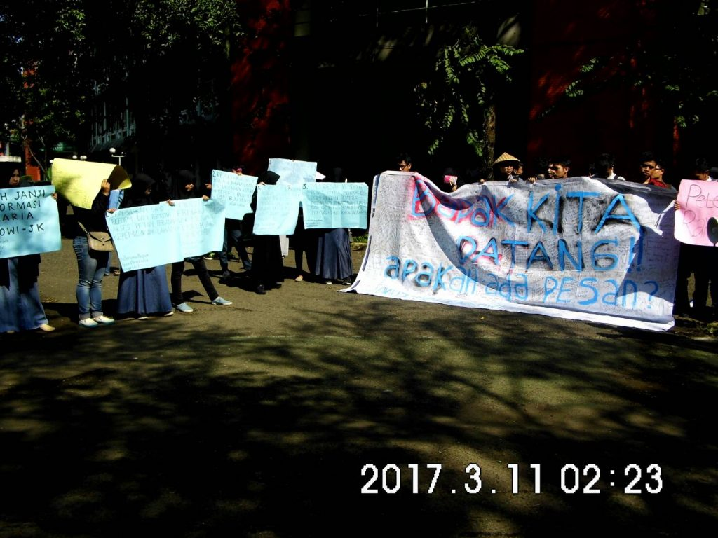 Suasana demonstran di Fakultas Pertanian