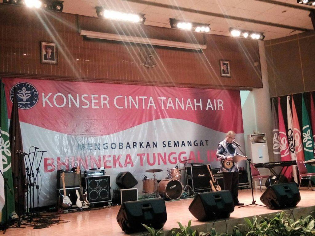 Sambutan Rektor IPB Membuka Acara Konser Cinta Tanah Air (Foto oleh : Rina N)
