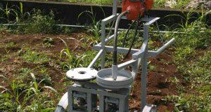 ELEH pemotong tanaman selada saat panen (Foto oleh : tim PKM ELEH)