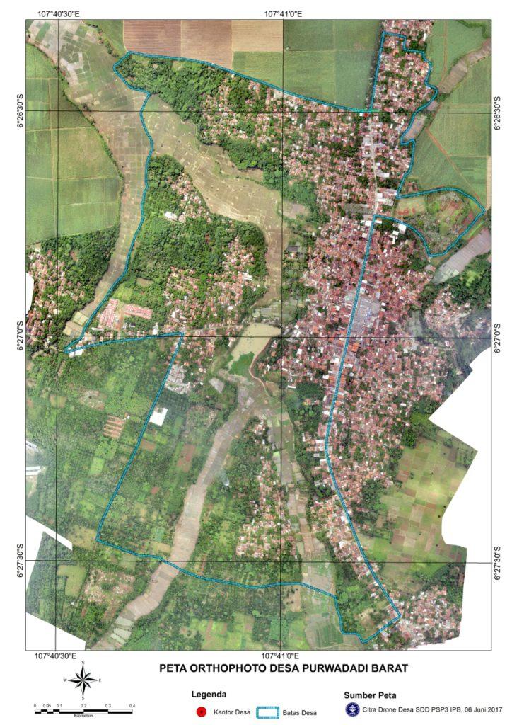 Pemetaan desa Purwadadi (Foto oleh : tim PKM Drone)