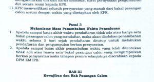 SK No.001/TAP/KPR-DPM KM/IX /2017 BAB II pasal 3 ayat 1