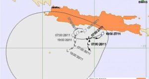 Lintasan Siklon Tropis Cempaka 27 November 2017 (