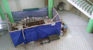 Pembangunan Lift di sekitar Node Gusdur (Foto oleh : Alferdian)